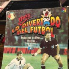 Coleccionismo deportivo: ÁLBUM LO MÁS DIVERTIDO DEL FÚTBOL, BIMBO, VACÍO. Lote 248423545