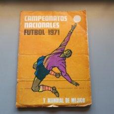 Coleccionismo deportivo: ALBUM COMPLETO -10 LIGA 71 1971 CAMPEONATOS NACIONALES CON 3 DOBLES SIN PEGAR. Lote 248684140