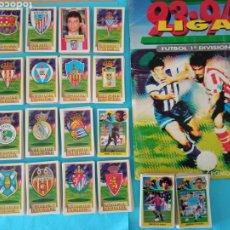 Coleccionismo deportivo: ESTE 93/94 LOTE 406 CROMOS DIFERENTES DE CARTON +ALBUM VACÍO DESPEGADO. Lote 251176225