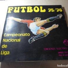 Colecionismo desportivo: MAGNIFICO ANTIGUO ALBUM DE CROMOS DE FUTBOL 1975-76 EDICIONES VULCANO,FALTAN 21 CROMOS. Lote 252257555