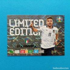 Colecionismo desportivo: EDICION LIMITADA CIRO IMMOBILE ITALIA / LAZIO UEFA EURO 2020 PANINI ADRENALYN XL LIMITED EDITION. Lote 252966280