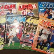Coleccionismo deportivo: LOTE ALBUM FUTBOL ED. ESTE 07/08-08/09-10/11-11/12-12/13-13/14 Y 14/15 LEER DESCRIPCIÓN. Lote 253034775
