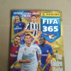 Colecionismo desportivo: ÁLBUM PLANCHA VACÍO FIFA 365 GOLDEN WORLD FOOTBALL PANINI 2018 MESSI CRISTIANO CAVANI DYBALA KANTÉ. Lote 253579060