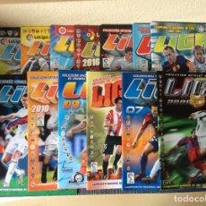 Coleccionismo deportivo: LIGA ESTE 15 ÁLBUMES DE FUTBOL PLANCHA SIN CROMOS DEL AÑO 2006 /07 AL 2020 /21. Lote 204994513