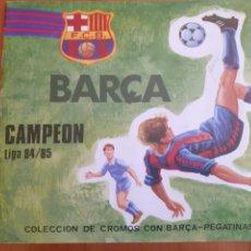 Colecionismo desportivo: ALBUM DE CROMOS Y PEGATINAS BARÇA CAMPEÓN LIGA 84 / 85 INCOMPLETO. BUEN ESTADO. VER FOTOS. Lote 254261915
