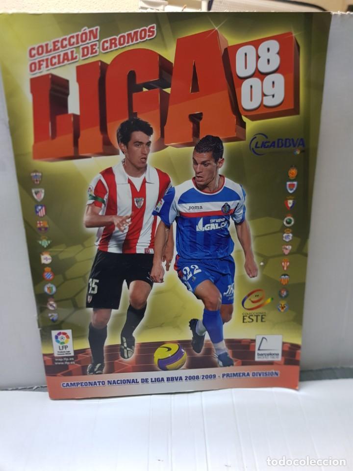 ALBUM LIGA 2008/09 COLECCIONES ESTE CON 385 CROMOS CON MESSI (Coleccionismo Deportivo - Álbumes y Cromos de Deportes - Álbumes de Fútbol Incompletos)