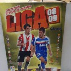 Coleccionismo deportivo: ALBUM LIGA 2008/09 COLECCIONES ESTE CON 385 CROMOS CON MESSI. Lote 255599335