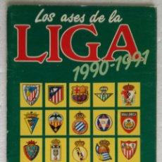 Coleccionismo deportivo: ALBUM DE FUTBOL LOS ASES DE LA LIGA 1990-1991 - INCLUYE SUPLEMENTO INTERIOR LLEGA LA FORMULA 1. Lote 257354625