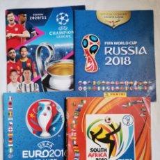 Coleccionismo deportivo: LOTE ALBUM CHAMPION LEAGUE MUNDIAL EUROCOPA. Lote 259840540