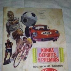 Coleccionismo deportivo: ALBUM KONGA DEPORTES Y PREMIOS AÑO 1967 (VACÍO, NUNCA PEGADO NADA). Lote 260649130
