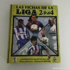 Coleccionismo deportivo: ALBUM FICHAS LIGA 2003/2004 CON 367 CROMOS SIN REPETIR. Lote 261163265