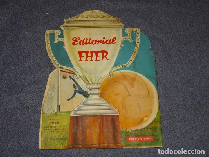 Coleccionismo deportivo: ALBUM CAMPEONATO DE LIGA 1960 - 61 - EDITORIAL FHER, FALTAN 11 CROMOS, VER FOTOIGRAFIAS ADICIONALES - Foto 2 - 261182750