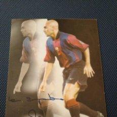 Coleccionismo deportivo: AUTOGRAFO FOTOGRAFIA IVAN DE LA PEÑA FUTBOL CLUB BARCELONA. Lote 262061575