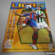 Coleccionismo deportivo: ALBUM LIGA 2005 06 ESTE A FALTA DE 53 CROMOS CON 9 FICHAJES. Lote 262996710