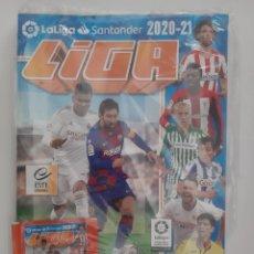 Coleccionismo deportivo: ALBUM VACIO LIGA FUTBOL 2020-21 PRECINTADO CONSERVA 1 SOBRE CROMOS SIN ABRIR COLECCIONES ESTE. Lote 263651155