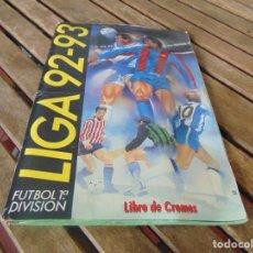 Coleccionismo deportivo: ALBUN DE FUTBOL EDICIONES ESTE TEMPORADA 1992 1993 92 93 INCOMPLETO. Lote 263742555