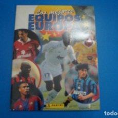 Collectionnisme sportif: ALBUM VACIO DE FUTBOL LOS MEJORES EQUIPOS DE EUROPA 1996-1997-96-97 DE PANINI. Lote 267196359