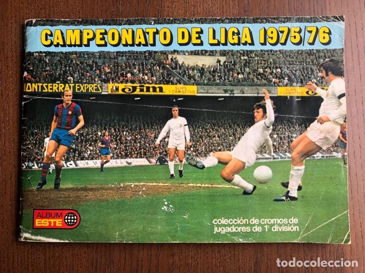 ALBUM FUTBOL LIGA ESTE 75-76 INCOMPLETO CON 18 FICHAJES 1975-1976 BUEN ESTADO LEER (Coleccionismo Deportivo - Álbumes y Cromos de Deportes - Álbumes de Fútbol Incompletos)