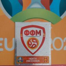 Coleccionismo deportivo: ESCUDO MACEDONIA,NÚMERO 289,EURO 2020. Lote 269135893