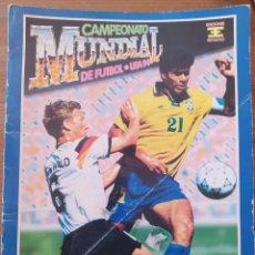 Coleccionismo deportivo: ÁLBUM CAMPEONATO MUNDIAL USA 94 ESTADIO CONTIENE MARADONA INCOMPLETO CON 269 CR PEGADOS MIRAR FOTOS. Lote 269829158