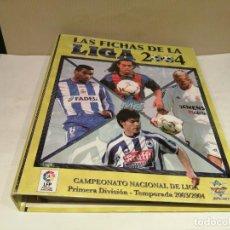 Coleccionismo deportivo: ALBUM CROMO FUTBOL LIGA 2003 2004 LAS FICHAS DE LA LIGA MUNDI CROMO SPORT BUEN ESTADO. Lote 270091193