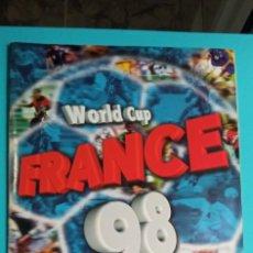 Coleccionismo deportivo: ALBUM COPA DEL MUNDO DE FRANCIA 1998 DSTICKER COLLECTIONS TIENE 163 CROMOS PEGADOS. Lote 273487088