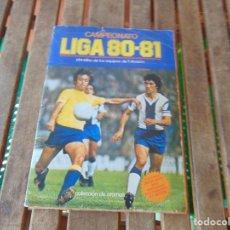 Coleccionismo deportivo: ALBUM DE FUTBOL DE EDITORIAL ESTE TEMPORADA 1980 1981 80 81 INCOMPLETO. Lote 274281743