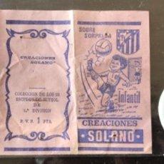 Coleccionismo deportivo: 10.156 SOBRE ABIERTO, ESCUDO DE CHAPA, ESPAÑOL ESPANYOL BARCELONA, TEMPORADA 1971-72. Lote 276565623
