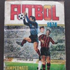 Coleccionismo deportivo: ALBUM DE CROMOS FUTBOL 1974 RUIZ ROMERO LIGA 73/74 1973 EN MAL ESTADO CON 145 CROMOS. Lote 277199728