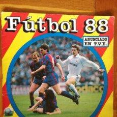 Coleccionismo deportivo: ALBUM DE FUTBOL 1988 LIGA ESPAÑA 1ª DIVISION PANINI - ALBUM INCLOMPLETO CON 59 CROMOS. Lote 280608218