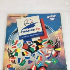 Collezionismo sportivo: ÁLBUM WORLD CUP FRANCE 98 INCOMPLETO ( FALTAN SOLO 58 CROMOS ). Lote 287233708