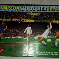 Coleccionismo deportivo: ALBUM FUTBOL 1975-76 ESTE SOLO PARA RESCATAR LOS CROMOS QUE QUEDAN. Lote 288077783