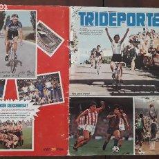 Coleccionismo deportivo: ÁLBUM DE CROMOS TRIDEPORTE 84 FHER CICLISMO FÚTBOL BALONCESTO CASI COMPLETO FALTAN 43 CROMOS DE 300. Lote 288097798