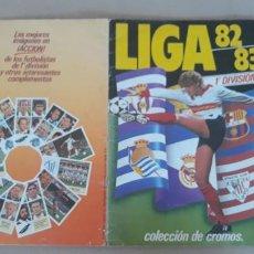Coleccionismo deportivo: LIGA 82/83 ESTE 1982/1983 ÁLBUM DE CROMOS CASI COMPLETO FALTAN 24 BÁSICOS Y 1 FICHAJE. Lote 288694673