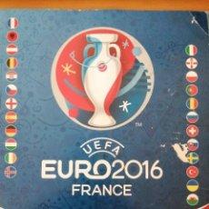 Coleccionismo deportivo: ALBUM CROMOS UEFA EURO2016 EURO FRANCIA 2016 PANINI INCOMPLETO TAL COMO SE VE. Lote 288705023
