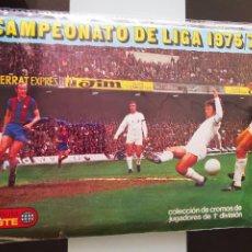 Coleccionismo deportivo: ALBUM FUTBOL 75 76 JUGADORES 1ª DIVISION 1975 1976 LIGA ESTE 21 FICHAJES (343 CROMOS, 20 SIN PEGAR). Lote 295546438