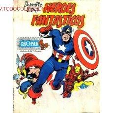 Coleccionismo Álbumes: DESCUBRE A TUS HEROES FAVORITOS DE CROPAN. Lote 381491