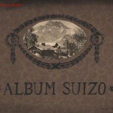 Coleccionismo Álbumes: ALBUM SUIZO .. CASERO 24 HOJAS CON ABUNDANTES FOTOGRAFÍAS A B/N .. 2 MAPAS DESPEGABLES . Lote 23600475