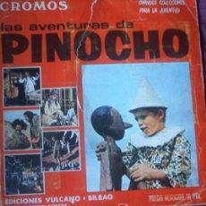Coleccionismo Álbumes: ALBUM DE CROMOS INCOMPLETO PINOCHO 1972 EDICIONES VULCANO Y PANINI. Lote 26220470