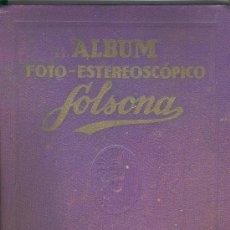 Coleccionismo Álbumes: (AL-247)ALBUM DE CROMOS FOTO-ESTEREOSCOPICO SOLSONA TOMO 1 AÑO 1933. Lote 4047197