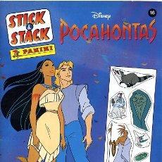 Coleccionismo Álbumes: ALBUM POCAHONTAS , PANINI , INCOMPLETO. Lote 23279626