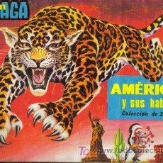 Coleccionismo Álbumes: AMERICA Y SUS HABITANTES ( MAGA ) ORIGINAL 1968. Lote 27205295