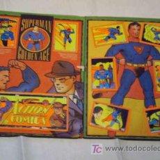 Coleccionismo Álbumes: ALBUM DE CROMOS SUPERMAN CON SUPERMAN DE LA GOLDEN AGE !! SUPER POWERS Y LA MUERTE DE SUPERMAN Y MÁS. Lote 24009089