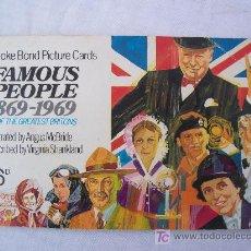 Coleccionismo Álbumes: ALBUM DE CROMOS: FAMOUS PEOPLE 1869-1969 (PERSONAJES FAMOSAS 1869-1969). Lote 21508323