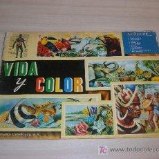 Coleccionismo Álbumes: VIDA Y COLOR ALBUNES ESPAÑA SA 1965 FALTAN ,COLECCION DE 380 CROMOS FALTAN 28 CROMOS. Lote 13929242