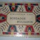 Coleccionismo Álbumes: ANTIGUO ALBUM DE BORDADOS BULGAROS - BIBLIOTECA D.M.C. - PRECIOSOS DISEÑOS PARA BORDAR EN SU INTERIO. Lote 23022240