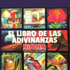 Coleccionismo Álbumes: ALBUM EL LIBRO DE LAS ADIVINANZAS DE BIMBO 1 DE 1972. Lote 26425778