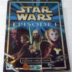 Coleccionismo Álbumes: ALBUM STAR WARS EPISODE 1 ED TOOPS DISTRIBUIDO POR ESTE 1999 FALTAN 4 STICKERS Y CROMO 81. Lote 9473513
