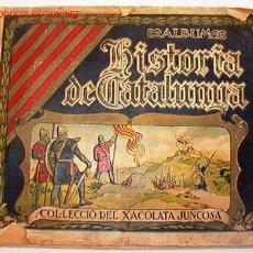 Coleccionismo Álbumes: ÁLBUM DE CROMOS 'HISTORIA DE CATALUNYA', CON 86 CROMOS.. Lote 27138962