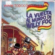 Coleccionismo Álbumes: CRO21-5. ALBUM DANONE. LA VUELTA AL MUNDO DE WILLY FOG. INCOMPLETO. Lote 8485816